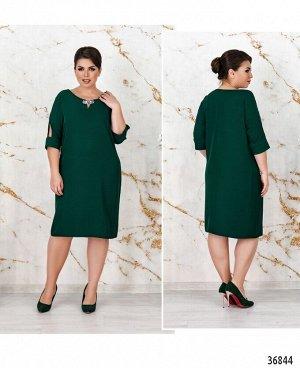Платье №3132-В-темно-зеленый