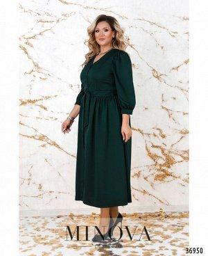 Платье №3257СБ-темно-зеленый