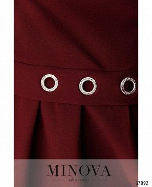Платье №3277СБ-марсала