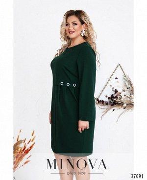 Платье №3277СБ-темно-зеленый