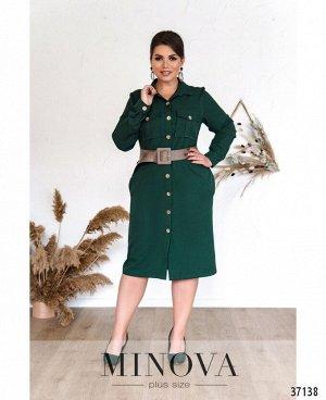 Платье №500А-зеленый