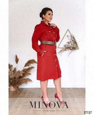 Платье №500А-красный