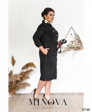 Платье №500А-черный