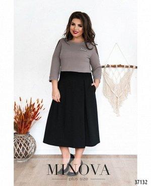 Платье №8-195-мокко