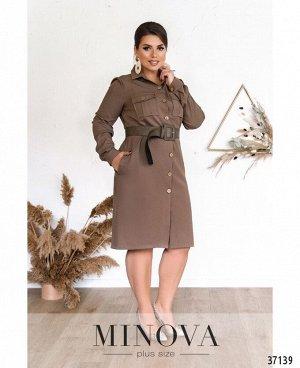Платье №500А-бежевый
