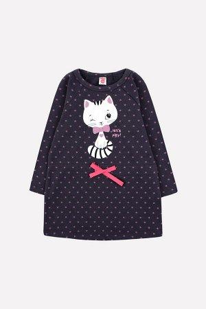Платье(Осень-Зима)+girls (темно-серый, звезды)
