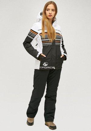 Женский зимний костюм горнолыжный черного цвета 01856Ch