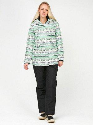 Женский зимний костюм горнолыжный салатового цвета 01937Sl