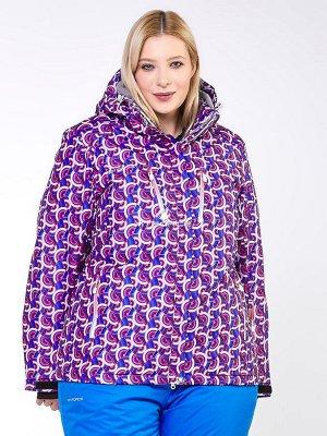 Женская зимняя горнолыжная куртка фиолетового цвета 18112F