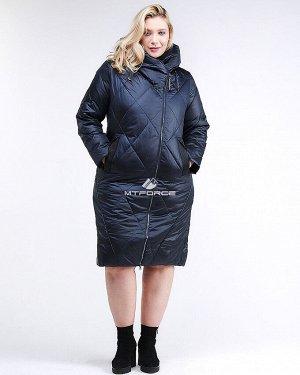 Женская зимняя классика куртка большого размера темно-фиолетового цвета 105-917_122TF