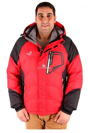 Мужская зимняя спортивная куртка красного цвета