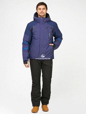 Горнолыжный мужской зимний костюм темно-синего цвета 01972-1TS