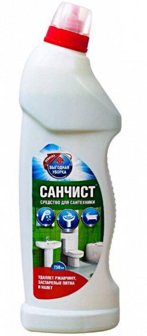 "New ВЫГОДНАЯ УБОРКА Средство д/чистки сантехники ""Санчист"" 750мл"
