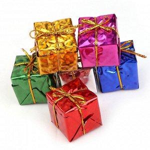 """Елочное украшение """"Подарочные коробки"""" (набор 12 шт., размер 2,5 см)"""