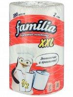"""Бумажные полотенца """"Familia"""" белые 2 слоя, 2 рулона XXL, 1/2 листа"""