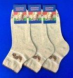 Беларусь носки женские лен гладкие
