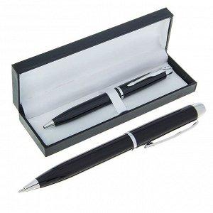 Ручка шариковая, подарочная, в кожзам футляре, поворотная, «Вектор»
