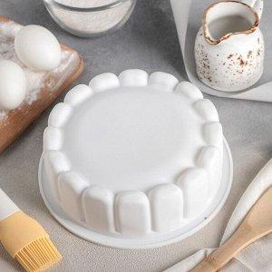 Форма для выпечки «Сокровище», d=17,5 см, белая, есть 2 штуки