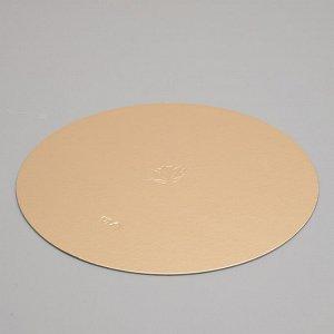 Подложка кондитерская, круглая, золото-жемчуг, 24 см, 1,5 мм