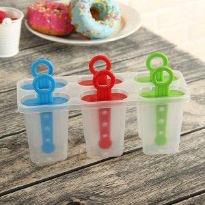 Форма для мороженого «Симпл», 6 ячеек, цвет МИКС