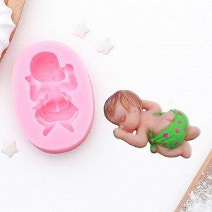 Молд силиконовый «Малыш», 6?4?2 см 1166888