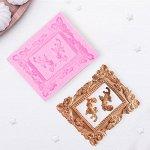 Молд силиконовый «Рамка, лепнина», 9,5?11,5 см, цвет МИКС
