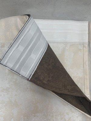 Шоколад+молоко 2 шторы по 2 метра длина 270 см