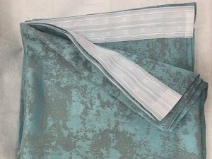 Бирюза  2 шторы по 1,5 метра длина 270 см
