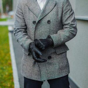 Перчатки мужские, размер 11, резинка, подклад флис, цвет чёрный