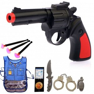 Набор игровой «Полицейский», 8 предметов, фартук