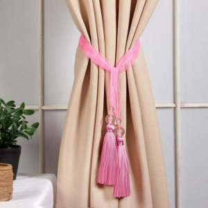 Кисть для штор «Лейла», 44 ± 1 см, цвет розовый