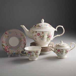 """Набор чайный 14 предметов МФ018P/14 """"Изабелла"""" в подарочной коробке"""