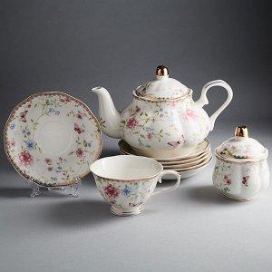 """Набор чайный 14 предметов МР026P/14 """"Амелия"""" в подарочной коробке"""