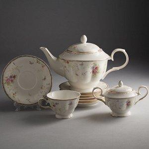 """Набор чайный 14 предметов МФ017P/14 """"Мэри"""" в подарочной коробке"""