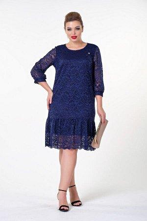 Платье Эмма №1. Цвет:темно-синий