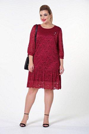 Платье Эмма №2. Цвет:бордовый