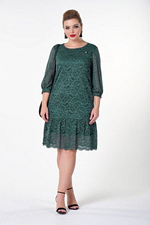 Платье Эмма №3 .Цвет:зеленый