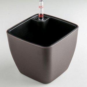 """Кашпо """"Unicum"""" с автополивом квадратное 15х12,5 см, цвета МИКС"""