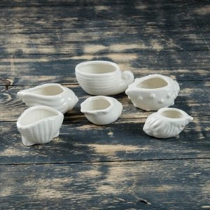Набор керамических кашпо 8*6*8 см 6 штук