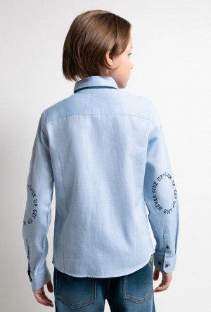 Сорочка верхняя детская для мальчиков David голубой