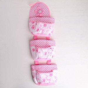 Органайзер с карманами подвесной «Цветочный», 3 отделения, 68?16,5 см, цвет МИКС