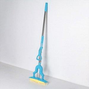 Швабра PVA со складным отжимом Доляна, телескопическая ручка 96-120 см, насадка 27?6 см, цвет МИКС