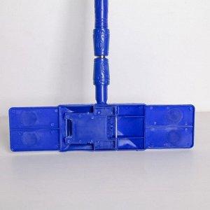 Швабра плоская Доляна «Ocean», телескопическая ручка 78-117 см, насадка микрофибра букли 42?13 см, цвет МИКС