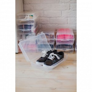 Короб для хранения обуви  «Реноме», 32х19х10,5 см, цвет прозрачный