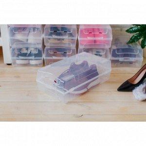 Короб для хранения обуви  «Реноме», 38х20,5х13 см, цвет прозрачный