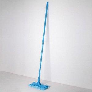 Швабра плоская Доляна, телескопическая ручка 80-128 см, насадка из микрофибры 30?13 см, цвет МИКС