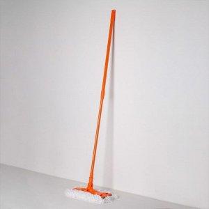 Швабра плоская Доляна, телескопическая ручка 82-129 см, насадка из микрофибры 30?13 см, цвет МИКС