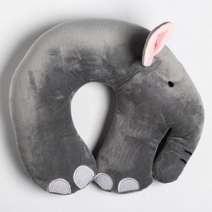 """Детская подушка для путешествий """"Слон"""", цвет серый"""