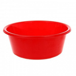 Таз круглый «Кливия», 4 л, цвет красный