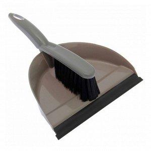 """Набор для уборки """"Клио"""": совок с кромкой и щётка-сметка, цвет МИКС"""